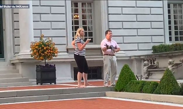 Married Couple Pointing Guns To Protesters, Defending Their Home and Dog